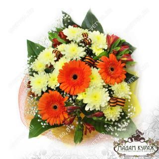 Букет из гербер и хризантем в Пскове