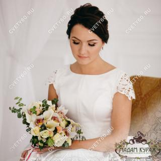 Свадебный букет из орхидей в Пскове заказать в интернет магазине cvety60.ru
