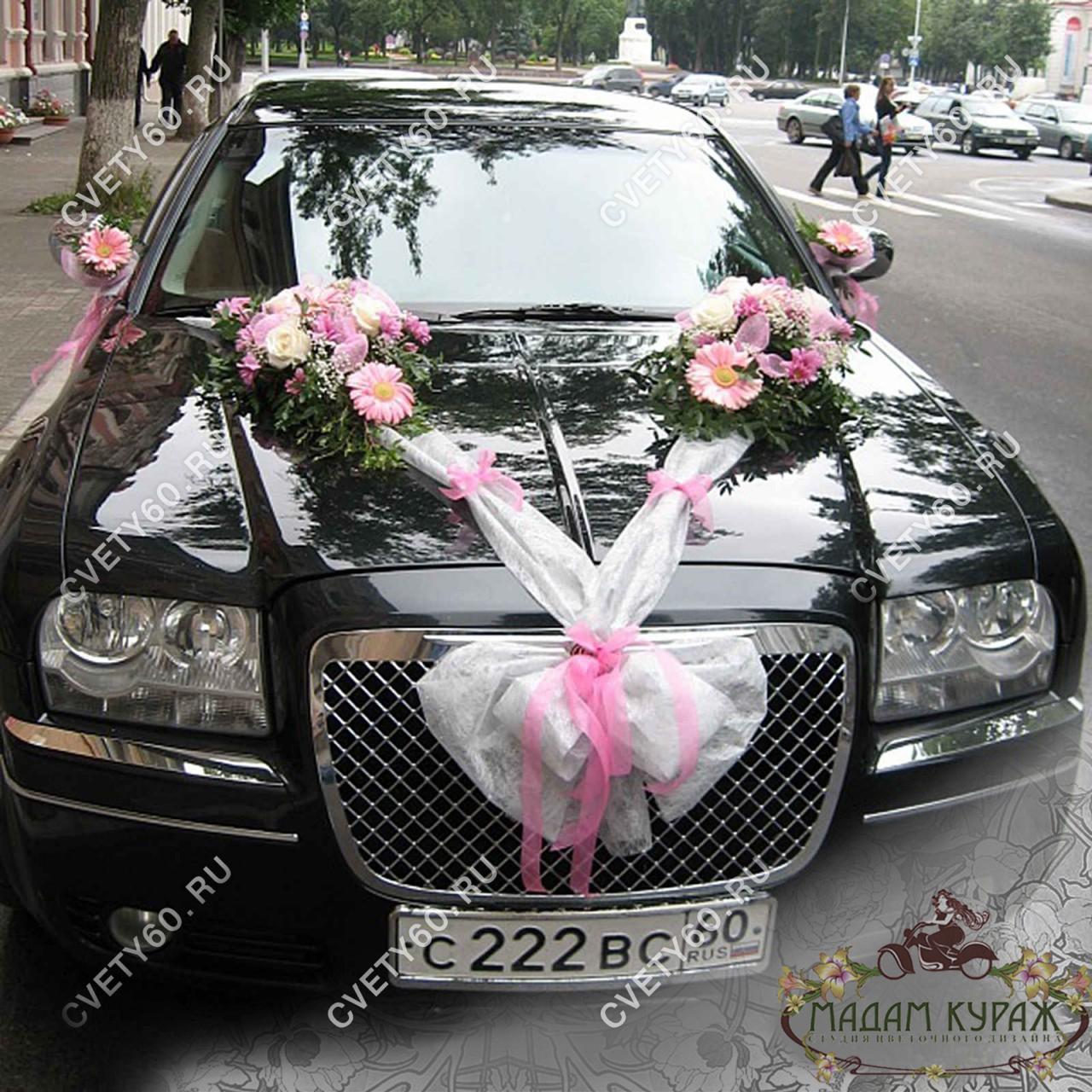 Флористическое оформление свадебного кортежа в Пскове