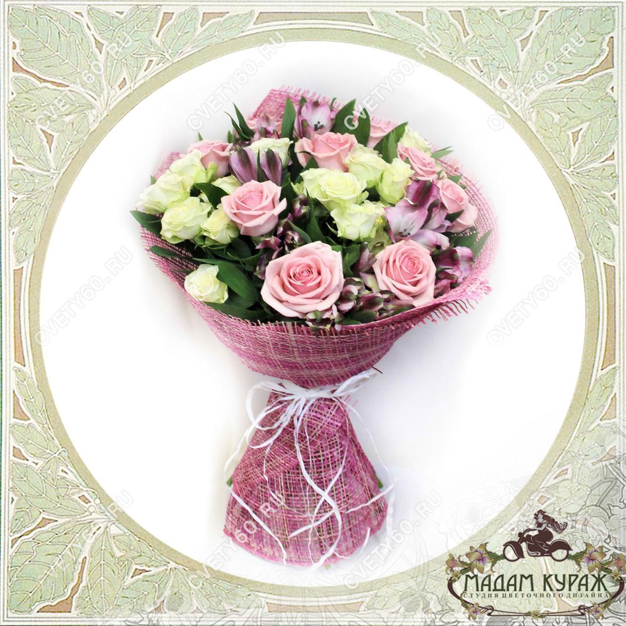 Букет из роз в Пскове Открытка