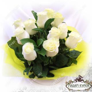 Букет из 11 белых роз в ПсковеПсков